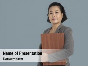 Woman asian business holding documents
