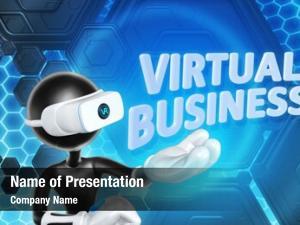Virtual business powerpoint theme