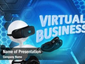 Virtual business powerpoint background