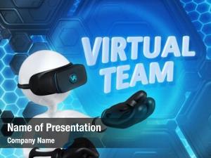 Virtual team powerpoint theme