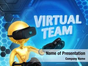 Virtual team powerpoint background