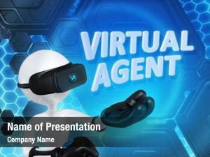 Virtual agent powerpoint theme