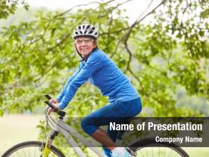 Takes senior woman trip bike