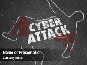 Chalk cyberattack word outline illustrate
