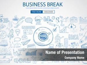 Concept business break doodle design
