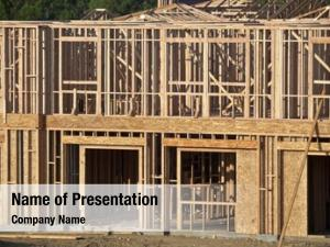 Construction typical house framing warm