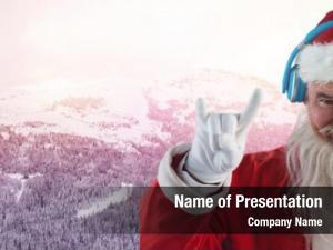 Santa digital composite winter landscape