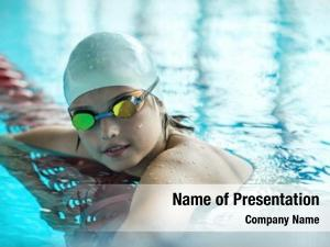 Swimmer child powerpoint template