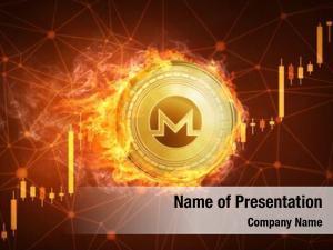 Coin golden monero fire bull