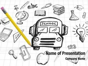 Pencil computer graphic against education