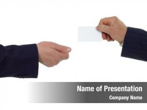 Visiting businessman give card another