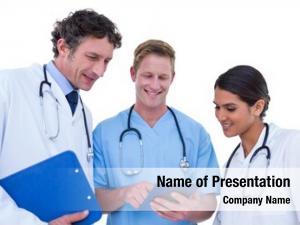 Using doctors nurses laptop white