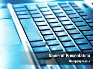 Illuminated perspective black laptop keyboard,