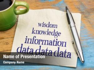 Knowledge data, information, wisdom knowledge