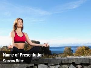 Woman beautiful caucasian doing yoga