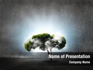 Symbol green tree environmental protection
