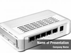 White internet router