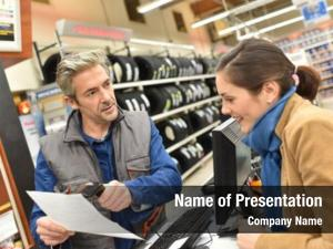 Shopping customer automobile center paying
