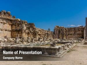 Romans temple jupiter ruins baalbek