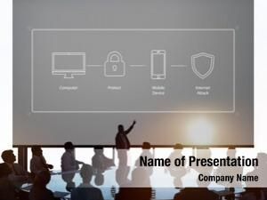 Projection screen system computer security