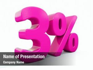 Sign, percent discount sale 3%,