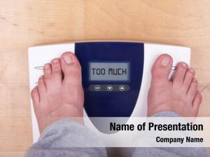 Feet scale two person standing