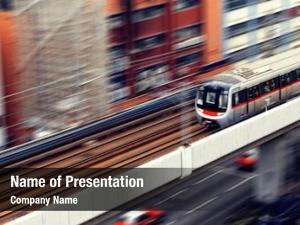 Motion high speed train blur outdoor