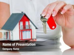 Estate broker real house key