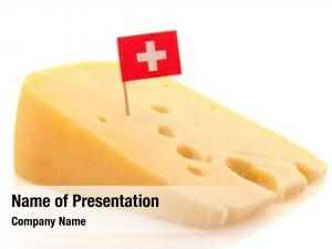 Cheese piece swiss flag cube
