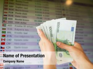 Conversion finance, currency people concept