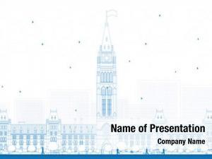 Building outline parliament ottawa, canada