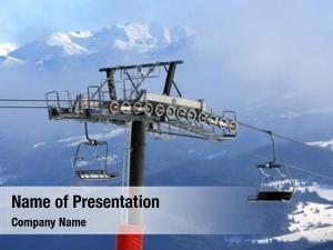Ski chairlift winter resort mountain
