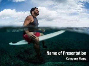 Wave surfer waits line surf
