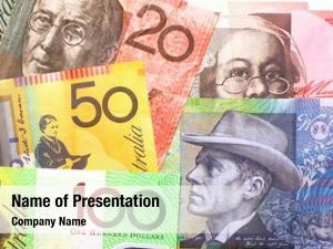 Notes background australian one hundred,