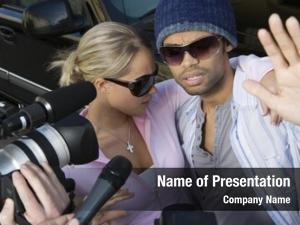 Couple closeup celebrity paparazzi