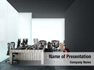 Multiple modern office workstations desk