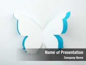 Butterfly cutout paper greeting card