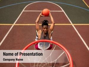 Basketballer african young making effort