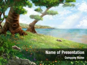 Water illustration land