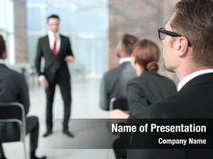 Business listener sitting seminar