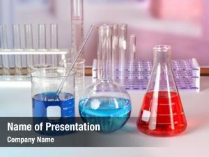 Laboratory glassware with fluids