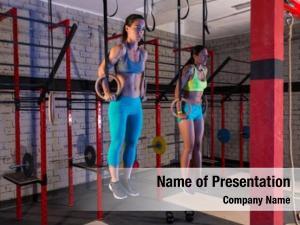 Muscle gym girls ups rings