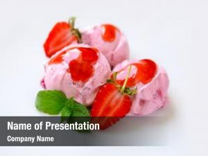 Cream strawberry ice mint fresh