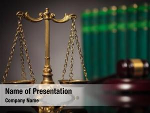 Law concept fair justice, golden