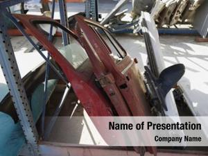 Car worn out parts scrap