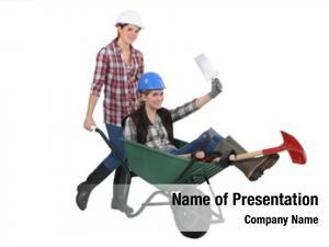 Wheelbarrow female builders