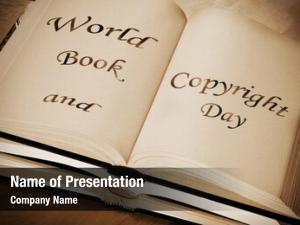 Book sentence world copyright day,