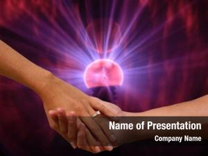 Electronic engagement hands plasma ball