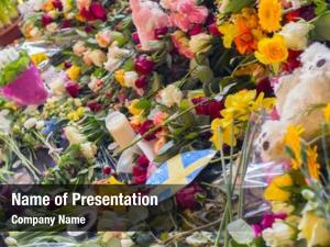 Floral tributes powerpoint template