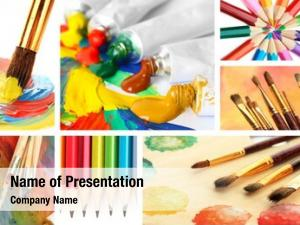 Collage color paint
